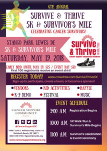 Survive & Thrive 5K and Survivor's Mile @ Stango Park